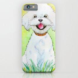 white puppy iPhone Case