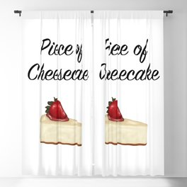 Piece of Cheesecake Blackout Curtain