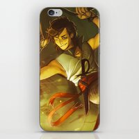 percy jackson iPhone & iPod Skins featuring Maybe Next Time, Jackson! by Miruocha