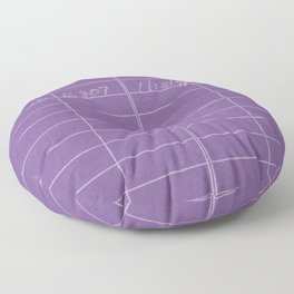 Library Card 797 Negative Purple Floor Pillow