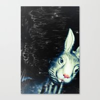 queer Canvas Prints featuring Queer Rabbit by NRL Photography