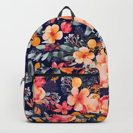 Navy Floral Backpack