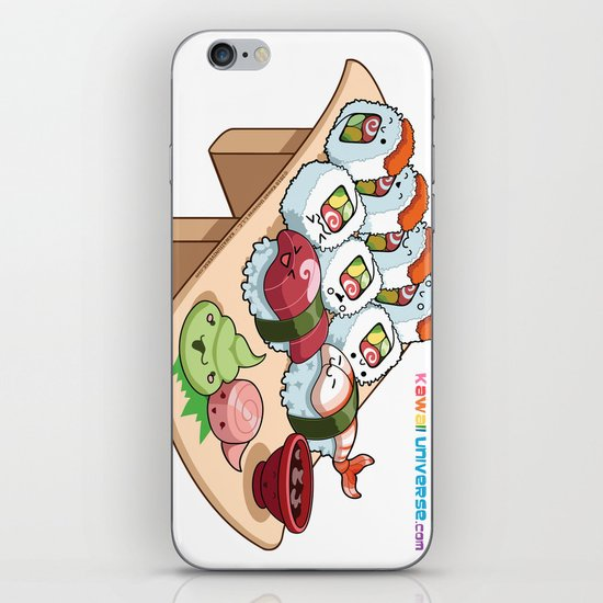 Kawaii California Roll and Sushi Shrimp and Tuna Nigiri iPhone & iPod Skin