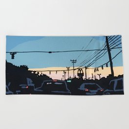 Reidville Road at Sunset Beach Towel
