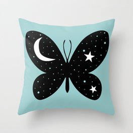 Buttefly Moon + Star Throw Pillow