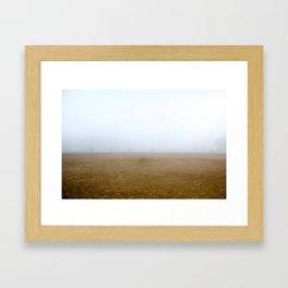 Baseball Field on a Foggy Morning Framed Art Print
