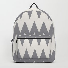 Zigzag Line Pattern Gray and Off White Pantone's Color of the Year 2021 Ultimate Gray & Cloud Dancer Backpack