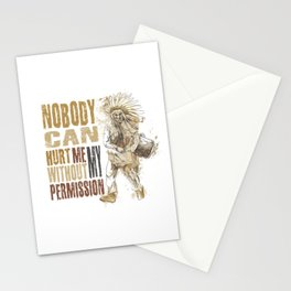 Nobody can hurt me without my permission Mahatma Gandhi Stationery Cards
