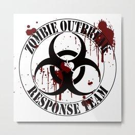 Neverlands Zombie Outbreak Response Team Metal Print