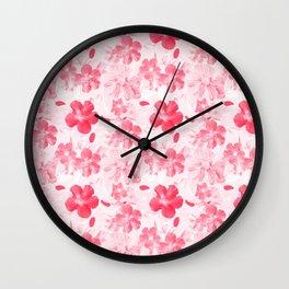 Floral Pattern - Falling In Love Wall Clock