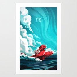 Porco Rosso Art Print