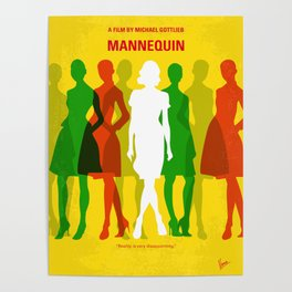 No984 My Mannequin minimal movie poster Poster