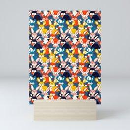 Rabbit colored pattern no2 Mini Art Print