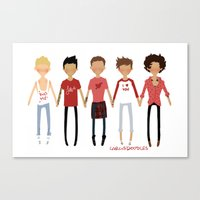 valentines Canvas Prints featuring Valentines by cargline