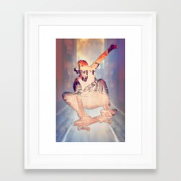 The Skateboarder Framed Art Print