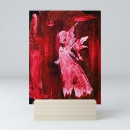 Guardian Angel - Scarlett Red Mini Art Print
