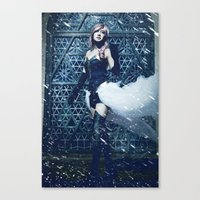 lightning Canvas Prints featuring Lightning by Imustbedead