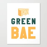 packers Canvas Prints featuring Green Bae | GB Packers by Deniz C.