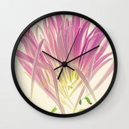 Love me, Dhalia - Botanical Print Wall Clock