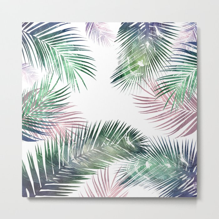 palm leaves tropical Metal Print