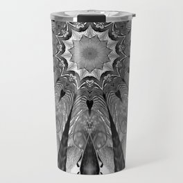 Mettalla Abstract White Flower Travel Mug
