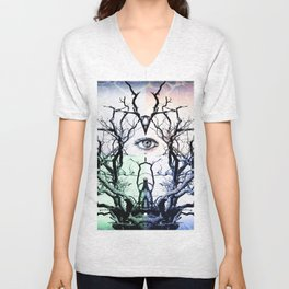 Tree Vision of Symmetry Unisex V-Neck