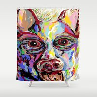 german Shower Curtains featuring German Shepherd by EloiseArt