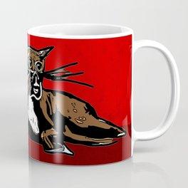 Winnie cat eats birds Coffee Mug