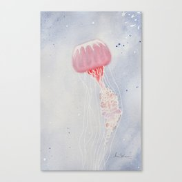 Red Jellyfish Canvas Print