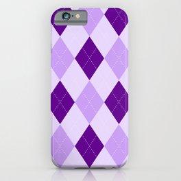 Purple Argyle Pattern iPhone Case