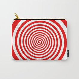 Red and White Spiral Carry-All Pouch