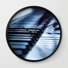 Musician play piano Wall Clock
