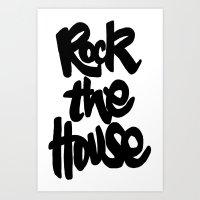 gorillaz Art Prints featuring Rock The House by Parys