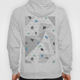 Abstract geometric climbing gym boulders blue mint Hoody