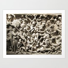Roman Battle Art Print