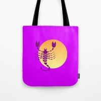 scorpio Tote Bags featuring Scorpio by Geni