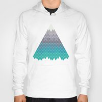 geology Hoodies featuring Many Mountains by Rick Crane