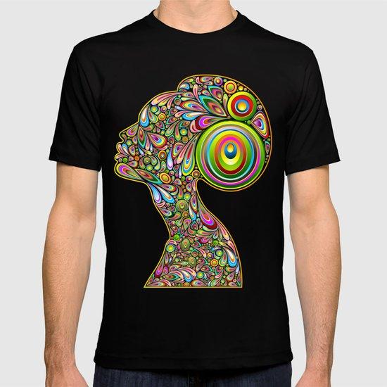 Woman Psychedelic Art Design Portrait T-shirt