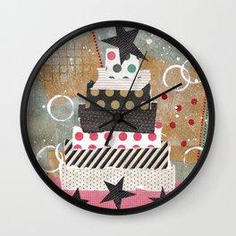 Shabby Chic Country Christmas Tree Wall Clock