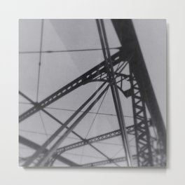 """under the iron bridge we kissed"" Metal Print"