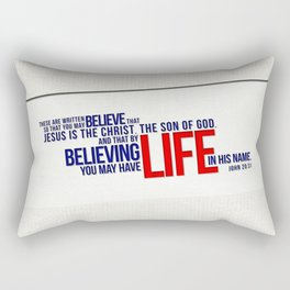 Life in His Name Rectangular Pillow