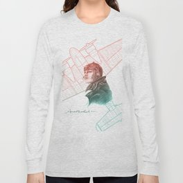 Amelia Earhart Courageous Adventurer Long Sleeve T-shirt