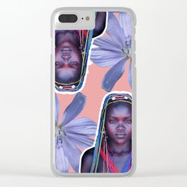 Afro2 Clear iPhone Case