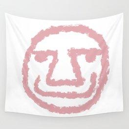 Minimalist Brush Stroke Face 009 Wall Tapestry