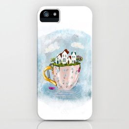 Pink Cup island iPhone Case