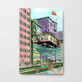 The Flying Aquarium Metal Print