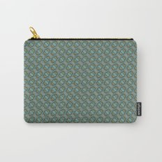 Graphic Old Fashioned Leaf Lattice Pattern Carry-All Pouch