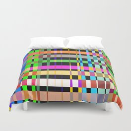 inclined coloured stripes Duvet Cover