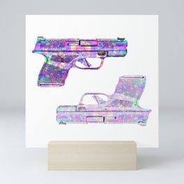 iridescent americana Mini Art Print
