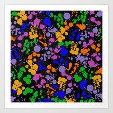 C13D Splatterings Art Print